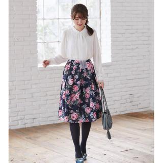 トッコ(tocco)のtocco closet 🌸新品 みどりんご様専用フラワーフレアスカート (ロングスカート)