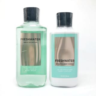 バスアンドボディーワークス(Bath & Body Works)のBBW メンズコレクションFreshwater 2点セット(ボディローション/ミルク)