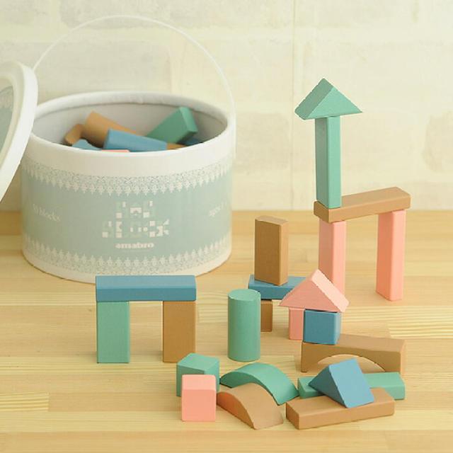 BorneLund(ボーネルンド)のamabro アマブロ BAB BLOCKS 積み木 ブロック キッズ/ベビー/マタニティのおもちゃ(積み木/ブロック)の商品写真