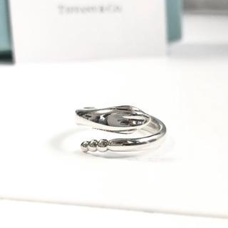 Tiffany & Co. - 美品 希少 廃盤 ティファニー  スネーク シルバー リング 8 指輪 金運 銀