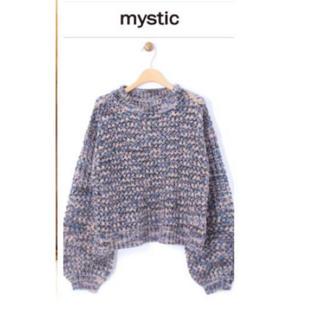 mystic - 早い者勝ち☆mystic ラメ入り透かし編みニット パープル ブルー