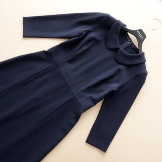 ANAYI - ■アナイ■ 38 丸襟ワンピース 濃紺 ANAYI