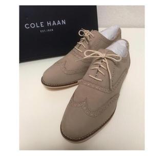 コールハーン(Cole Haan)の【新品】COLE HAAN ヌメ革 オックスフォード ウイングチップ マニッシュ(ローファー/革靴)
