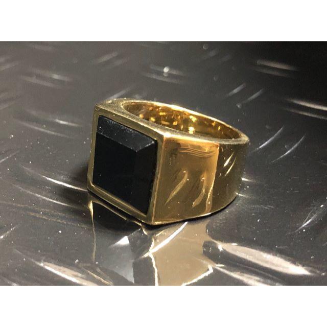 ゴールド 鏡面仕上げ スクエア型 シンプル おしゃれ ランキング メンズ リング メンズのアクセサリー(リング(指輪))の商品写真