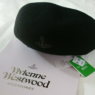 Vivienne Westwood - ヴィヴィアンウエストウッド ベレー帽 新品未使用タグ付き ブラック