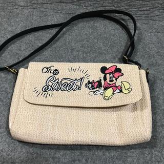 Disney - ミニーちゃんとフィガロの麻素材バッグ