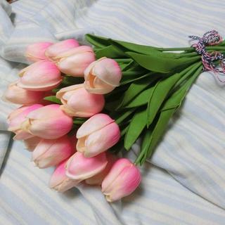 チューリップ 造花 5本セット ライトピンク(その他)