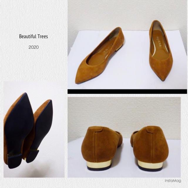 DIANA(ダイアナ)の22.5cm*美品*DIANA 牛革 フラットシューズ ローヒール パンプス レディースの靴/シューズ(バレエシューズ)の商品写真