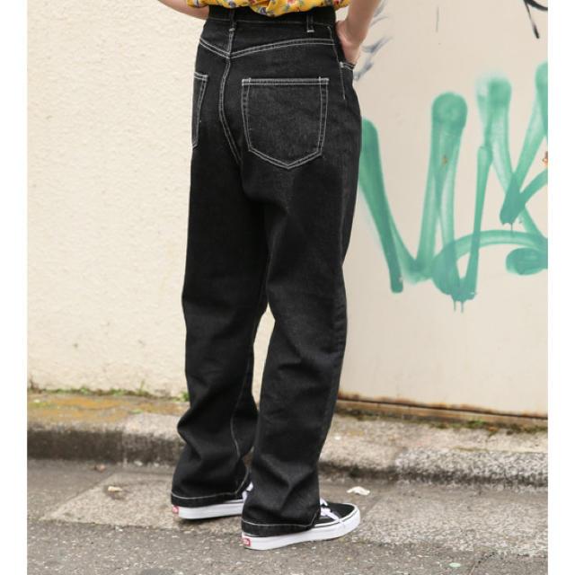 JOURNAL STANDARD(ジャーナルスタンダード)のブラック ストレートデニム レディースのパンツ(デニム/ジーンズ)の商品写真
