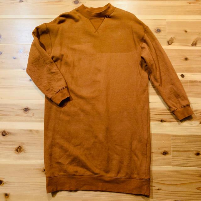 w closet(ダブルクローゼット)の裏起毛スウェットワンピ レディースのワンピース(ひざ丈ワンピース)の商品写真