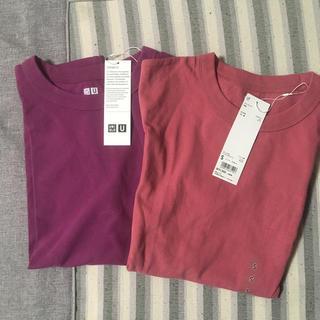 UNIQLO - タグ付き ユニクロ クルーネックT   Tシャツ