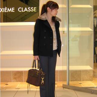DEUXIEME CLASSE - ドゥーズィエムクラス Deuxieme Classe ショートコート ネイビー