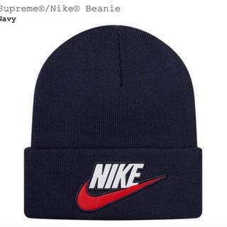 シュプリーム(Supreme)のSupreme Nike Beanie ネイビー(ニット帽/ビーニー)