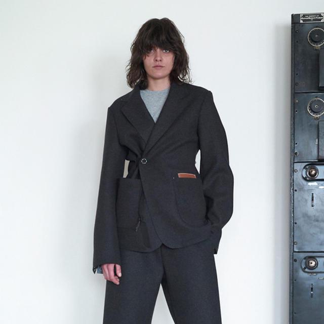 SUNSEA(サンシー)の【SUNSEA】Cut Off Melton Jacket メンズのジャケット/アウター(テーラードジャケット)の商品写真
