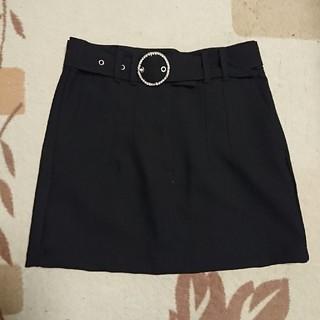 ベルシュカ(Bershka)のBershkaの黒のミニスカート(ミニスカート)