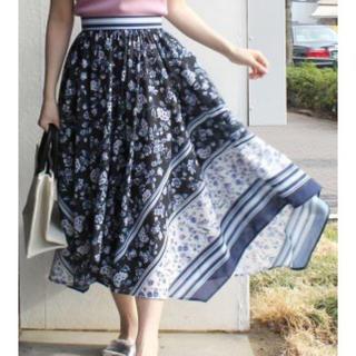 MERCURYDUO - MERCURY♡スカーフ柄イレヘムスカート