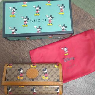Gucci - Disney×GUCCI ジップアラウンドウォレット 長財布 ミッキー
