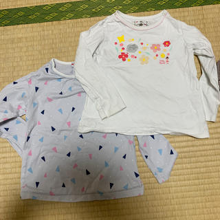 mikihouse - リーナちゃんロンT110、2枚セット