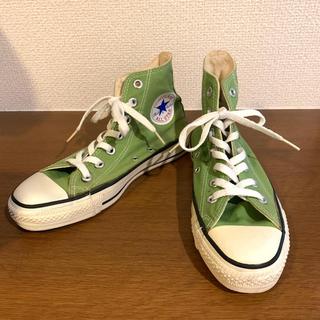 CONVERSE - USA製 コンバース ハイカット 黄緑 23.5cm