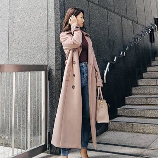 rienda - rienda リエンダ stretch Suede Trench CT  コート