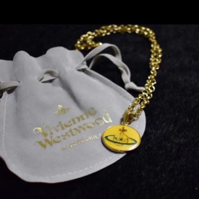 Vivienne Westwood(ヴィヴィアンウエストウッド)の廃盤レア エナメルオーブ ネックレス ヴィヴィアン レディースのアクセサリー(ネックレス)の商品写真