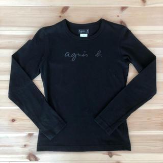 アニエスベー(agnes b.)のサイズ1 アニエスベー 黒ロゴロンT(Tシャツ(長袖/七分))