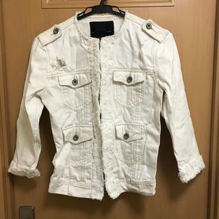 ダブルスタンダードクロージング(DOUBLE STANDARD CLOTHING)のダブルスタンダード  ノーカラーGジャン(Gジャン/デニムジャケット)