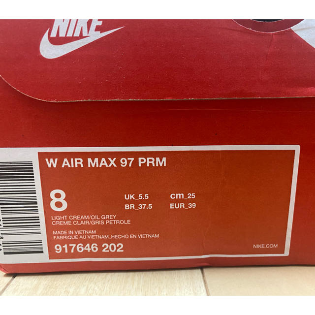 NIKE(ナイキ)のAIR MAX 97 PRM エアマックス97 ライトクリーム 25cm レディースの靴/シューズ(スニーカー)の商品写真