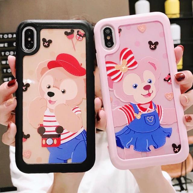 Disney(ディズニー)のダッフィー シェリーメイ ステラ・ルー iPhone7/8/X/XS/XR スマホ/家電/カメラのスマホアクセサリー(iPhoneケース)の商品写真