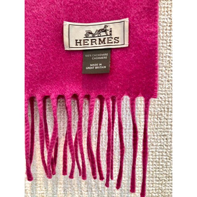 Hermes(エルメス)のエルメス 100%カシミアマフラー [クリーニング済] レディースのファッション小物(マフラー/ショール)の商品写真