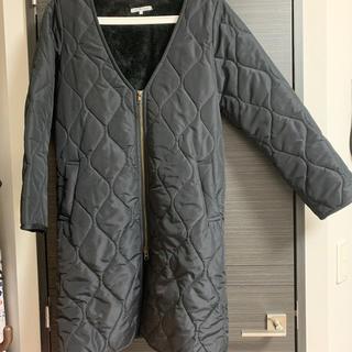 STUDIO CLIP - 美品 アンティクローズ ノーカラー ボア キルティング コート