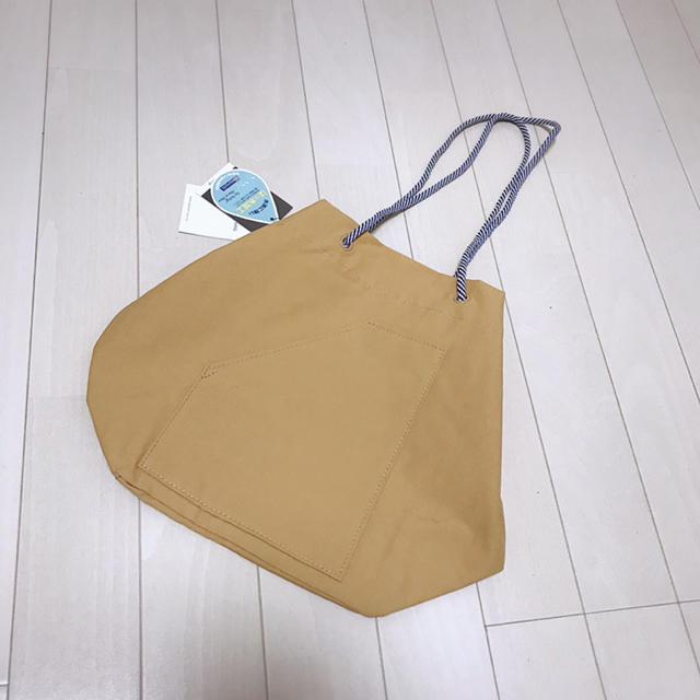 ROOTOTE(ルートート)の新品・タグ付き✨ROOTOTE キャメル 撥水 ショルダー 巾着 トート バッグ レディースのバッグ(ショルダーバッグ)の商品写真