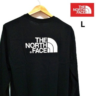 THE NORTH FACE - THENORTHFACE ビッグロゴ 長袖T 黒 US/L 海外限定★新品