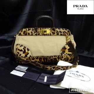PRADA - プラダ:PRADA キャンパス×ハラコ 2WAYショルダーバッグ