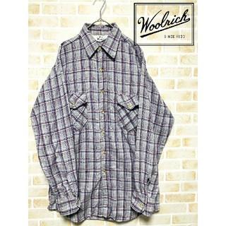 ウールリッチ(WOOLRICH)の【稀少品】70年代 ウールリッチ ビンテージ ライトフランネルシャツ(シャツ)