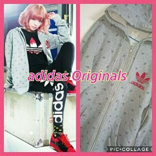 アディダス(adidas)のadidas Originals★希少★きゃりー着用★総柄★ロデオクラウンズ(パーカー)