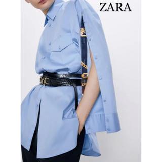 ZARA - 【新品・未使用】ZARA ボタン付き オーバーサイズ シャツ  S