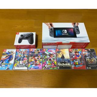 Nintendo Switch - 任天堂スイッチ本体+ソフト7本+コントローラー