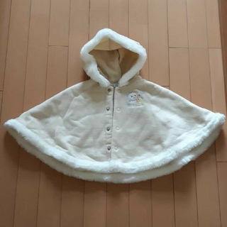 ミキハウス(mikihouse)のミキハウスアイボリーベビーボアフリースポンチョ70~85(ジャケット/コート)