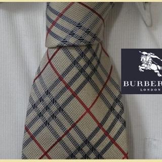 BURBERRY - 美品★バーバリーロンドン【バーバリーチェック柄】高級ネクタイ★アラ商事