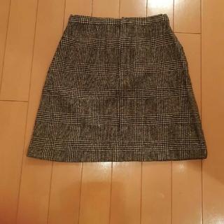 ラルフローレン(Ralph Lauren)のラルフローレン黒×グレー グレンチェック柄ウールスカート150サイズ(ひざ丈スカート)