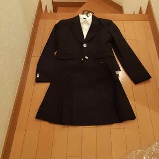 リトルリードLITTLE LEAD卒業入学フォーマル黒×ストライプスーツ160(ドレス/フォーマル)
