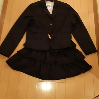 ジェニィ(JENNI)のジェニィJenni卒業入学フォーマル黒スカートスーツ160サイズ(ドレス/フォーマル)