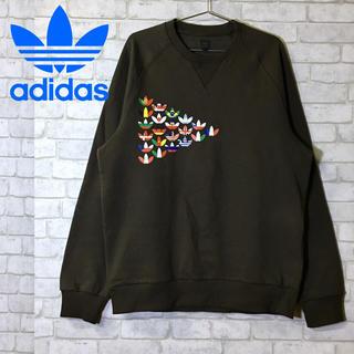adidas - 【adidas】クルースウェット 国旗プリント トレーナー /Lサイズ
