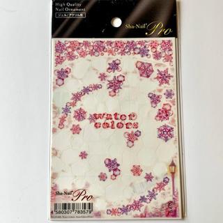 写ネイル プロ  ネイルシール 雪の結晶 ピンク(ネイル用品)