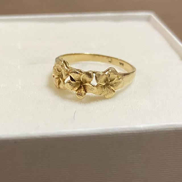 laulalea様 専用 ハワジュ 14金 プルメリア リング レディースのアクセサリー(リング(指輪))の商品写真