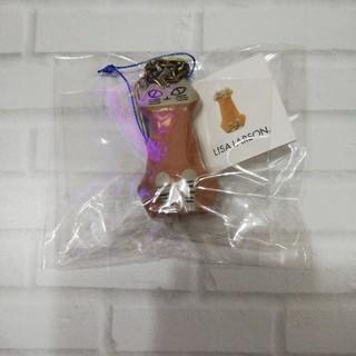 リサラーソン(Lisa Larson)のリサラーソン ミニアニマルシリーズ 座り猫(キーホルダー)