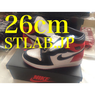 ナイキ(NIKE)の26cm NIKE AIR JORDAN 1 SATIN BLACK TOE(スニーカー)