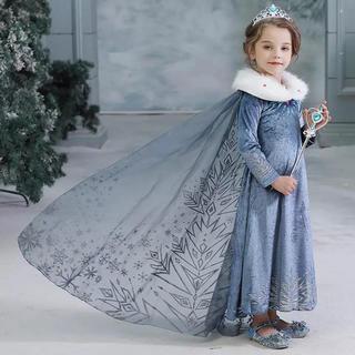 アナトユキノジョオウ(アナと雪の女王)のエルサ ドレス アナと雪の女王ドレス❤️サイズ110(ドレス/フォーマル)