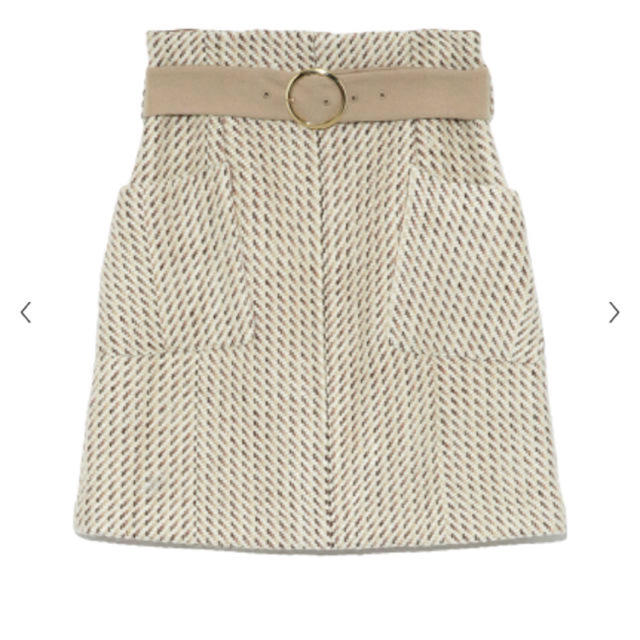 Lily Brown(リリーブラウン)のリリーブラウン   ツイード台形スカート レディースのスカート(ミニスカート)の商品写真